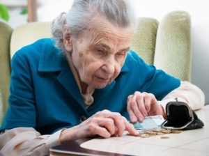 Pensioner counts small change